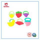 倍は幼児のためのフルーツ野菜の形のシリコーンのTeetherのおもちゃを着色する
