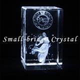 3D cristal grabado con láser Virgo