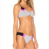 Etiqueta Privada de fábrica roupa de banho meninas dois pedaços Polyester Bikini