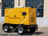 Cummins 300kw Movable Type de groupe électrogène diesel de la remorque avec réservoir de carburant (PFC375T)