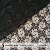 Tela de nylon negra suave del cordón para la ropa (M5249)