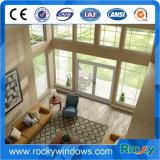 Деревянным сдобренное цветом окно верхнего алюминиевого Casement французское