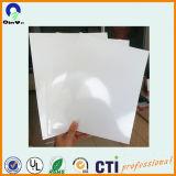 印刷の物質的なプラスチックPVCシートの光沢のある白PVCシートの広告