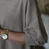 Couleur solide de cachemire de qualité de chandail de pull de chandail occasionnel pur de Knit