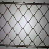Frontière de sécurité Chian de tige de diamant enduit de PVC