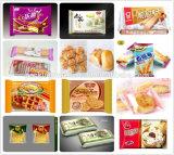 Alimentação dos biscoitos do bolo & linha de embalagem automáticas equipamento de empacotamento comercial do alimento