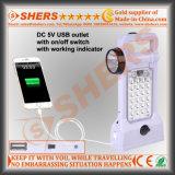 Luz solar portable del LED con la antorcha de 1W LED, USB (SH-1971)