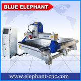 Máquina de grabado de madera azul del CNC 1530 del elefante de Jinan, 3D máquina de talla de madera para las cabinas, puerta