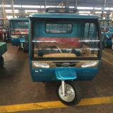 Carga máxima 500 kg de potencia híbrido gasolina/eléctrico Tricyle pasajero con arrojar