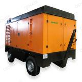 250 cfm con motor Diesel compresor móvil para la pavimentación de los disyuntores