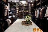 Kundenspezifischer Weg im Wandschrank mit dunkler befleckter aufgebauter Ins-Garderobe (BY-W-62)