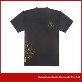 T-shirt preto feito sob encomenda da promoção do algodão para anunciar (R36)