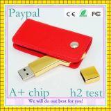 안전한 지불 고품질 가죽 USB 섬광 드라이브 (GC-L008)