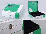 Cajas de regalo de papel con la ventana clara, cajas de la maleta del regalo con la cerradura del metal