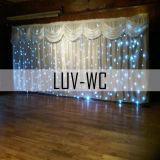 Flexibele LED-gordijnen in volledige kleuren voor bruiloften
