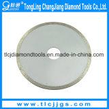 Lâmina de serra de diamante contínua para granulação de mármore de corte molhado