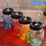 Glasmaurer-trinkendes Glas mit Schutzkappe und Griff