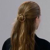 ヨーロッパ及びアメリカの方法金カラー円形のヘアークリップの金属のヘアピン