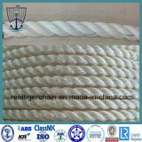 Seil-Polyester-Seil-Polypropylen-Liegeplatz-Seil der Faser-3 \ 4-Strand