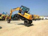 Excavador Xn80-9 de la rueda para la venta en China en Asia en el Brasil Alemania Francia España Dinamarca