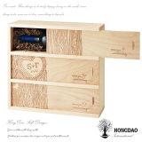 Hongdaoの木箱、結婚式のための木のワインボックス