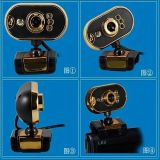 Câmara de metal de alta qualidade com LED, Câmera de Vídeo da Web