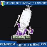 Médaille en alliage de zinc de sport de récompense en métal avec la bande