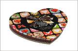 Boîte-cadeau de chocolat de sucrerie de carton de papier de forme de coeur