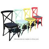 木の食事のレストランのコーヒー木の十字の背部椅子