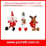 Decoratie van de Vakantie van het Stuk speelgoed van de Decoratie van Kerstmis (zy15y057-1-2) de Kerstmis Gevulde voor het Chinese Product van de Verkoop