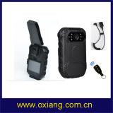 "1080P警察DVR 2の""警察のボディによって身に着けられているカメラサポート外部カメラおよび遠隔コントローラ"