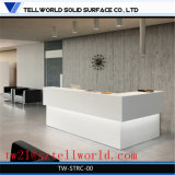 LED 광택 백색 호텔 접수처 높은 광택 현대 접수처