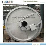 O pneu que recicl a máquina refina o pneu para olear e o preto de carbono