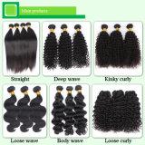 Bouclé crépu mongol dans l'usine de cheveux humains de vente en gros de prolonge de cheveu