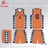 Healong中国の安い価格の服装番号昇華チームクラブバスケットボールジャージー