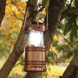 Lampada ricaricabile della tenda del giardino a energia solare dei 6 LED