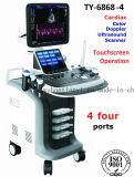 Caridac Color Doppler Ultrasound Machine mit 4 Transducer Connectors