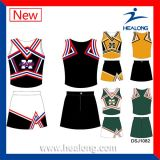 Uniformes cheios da camisola do Cheerleading do Sublimation da tintura da venda por atacado da equipe de Healong