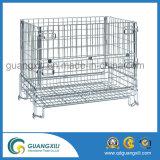 Cage se pliante de conteneur de treillis métallique pour l'entrepôt