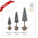 H59-97cm PE Plastique des cadeaux de Noël et de faux arbre de Noël de la neige