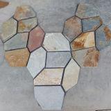 中国の多色刷りのスレートの石のフラグのマット(SMC-R042)
