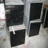 小さい平板が付いているYunfu卸し売りNero黒いMarquinaの大理石