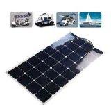 Panneau solaire de film mince semi flexible marin de 100W Sunpower ETFE pour le rv