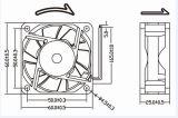 schwanzloser Computer-Kühlventilator Gleichstrom-12volts 60X60X25mm
