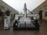 Máquina do router do CNC de 4 linhas centrais a grande com cabeça gira 180 graus