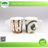2015 Cafe popular Hot Coffee Paper Cups para 7oz con Handle