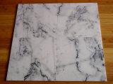 Mattonelle di marmo bianche bianche popolari del marmo 24X24 per i progetti interni