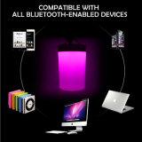 Altavoces sin hilos portables de Bluetooth con la lámpara del LED