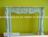 판매 중국 최신 벽난로, 새겨진 순수한 백색 대리석 벽난로 (SY-MF119)