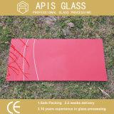 Pantalla de seda coloreada de la baja temperatura impresa/impresión de cristal